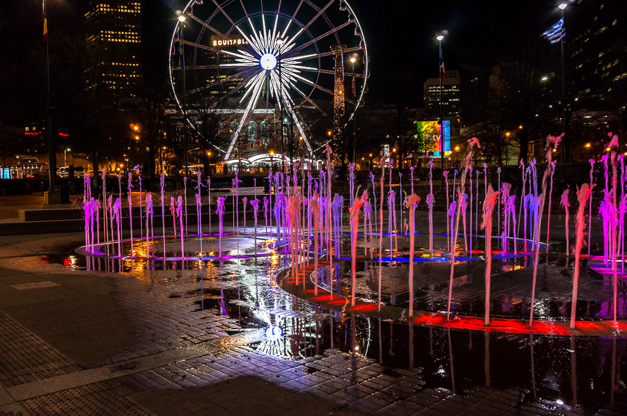 Fountains in Olympic Park Atlanta