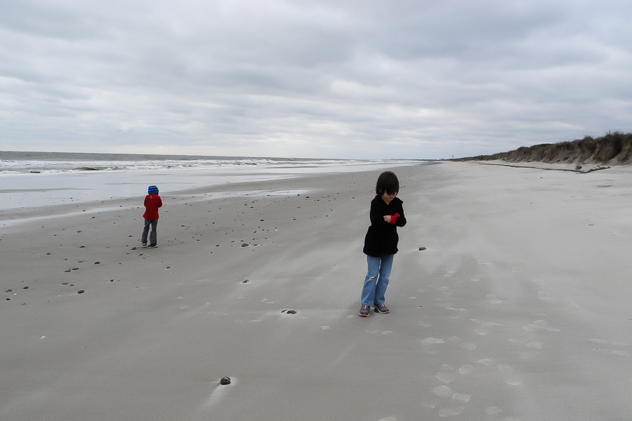 Beach on a cold day