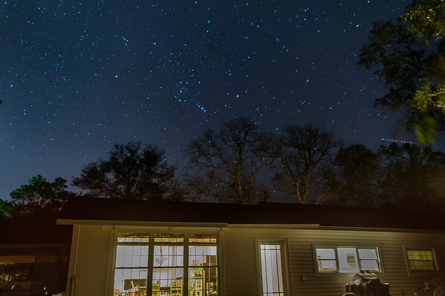 Stars above our house