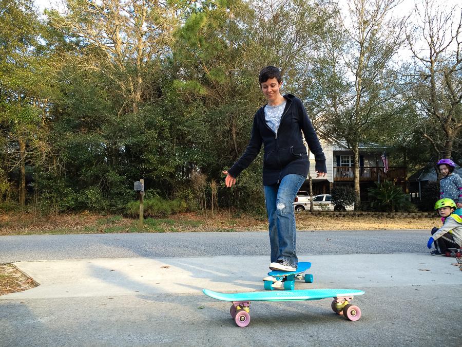 Skateboarding Wife