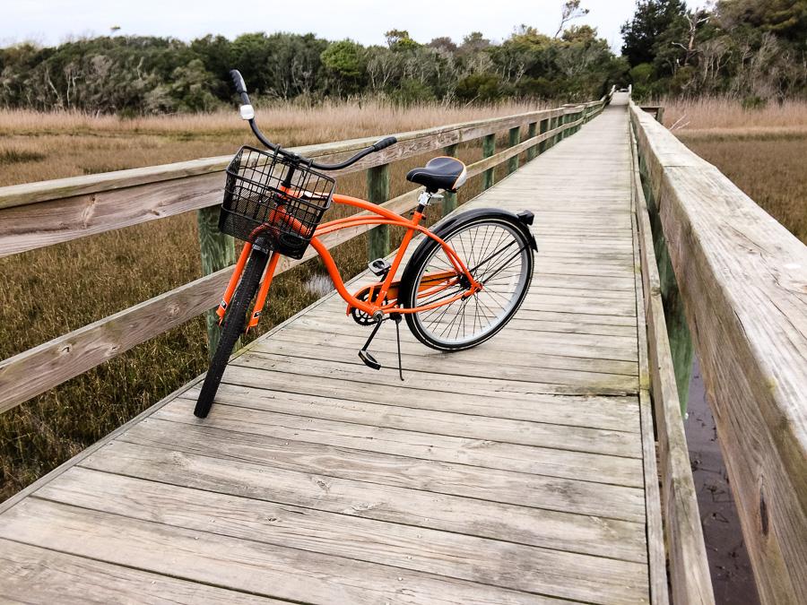 Bike on the walkway
