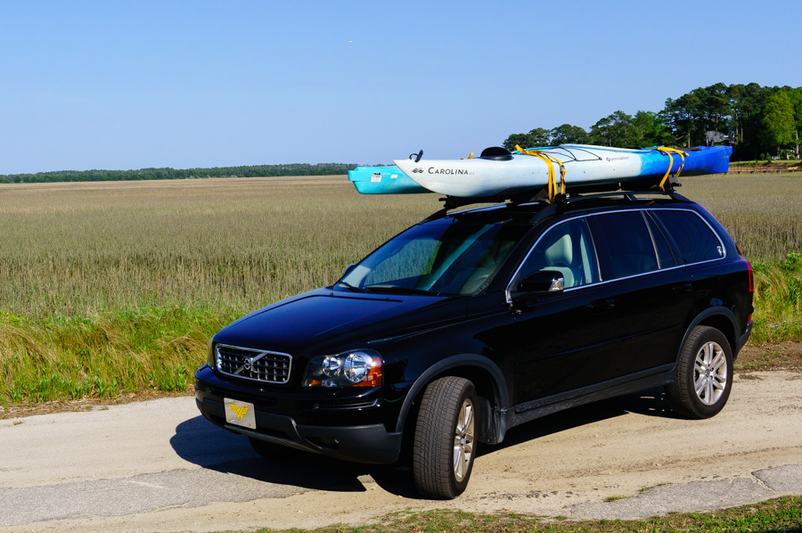 Kayaks on the Volvo