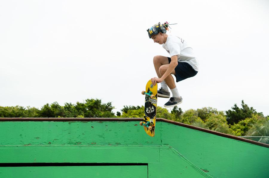 Tricks at the skate park
