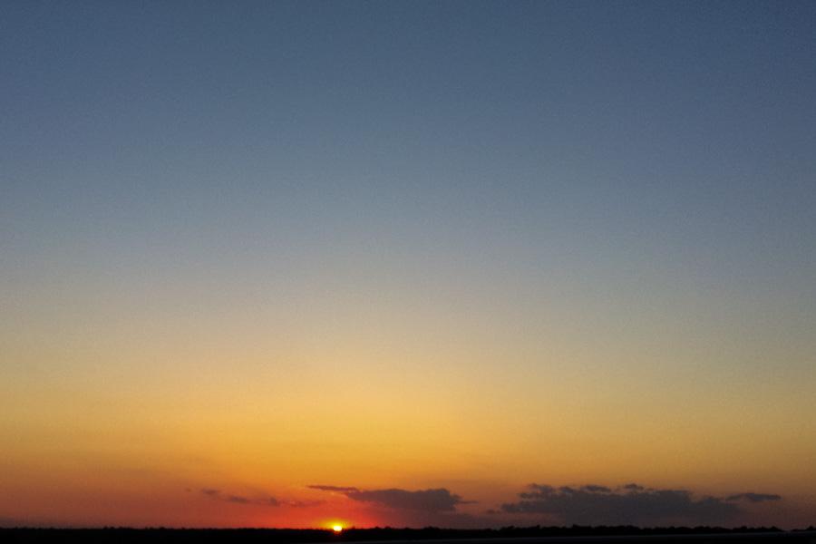 Sunset from the Swain's Cut Bridgebridge