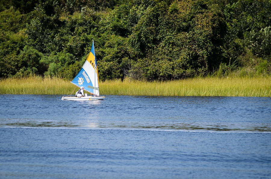 Sunfish Sailboat during the Around Oak Island Sunfish Race