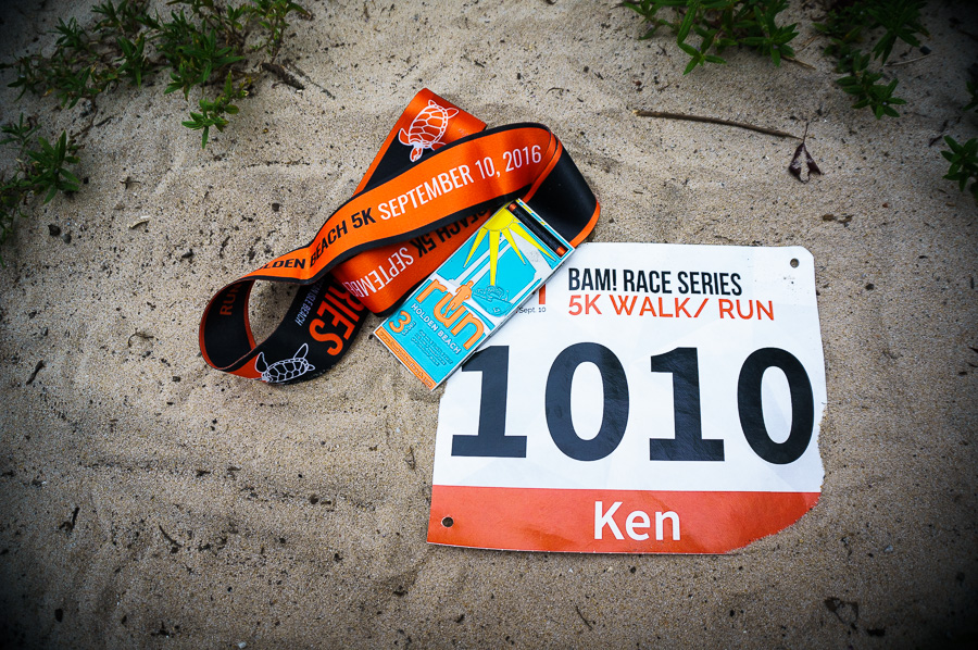 Run Holden Beach number and medal