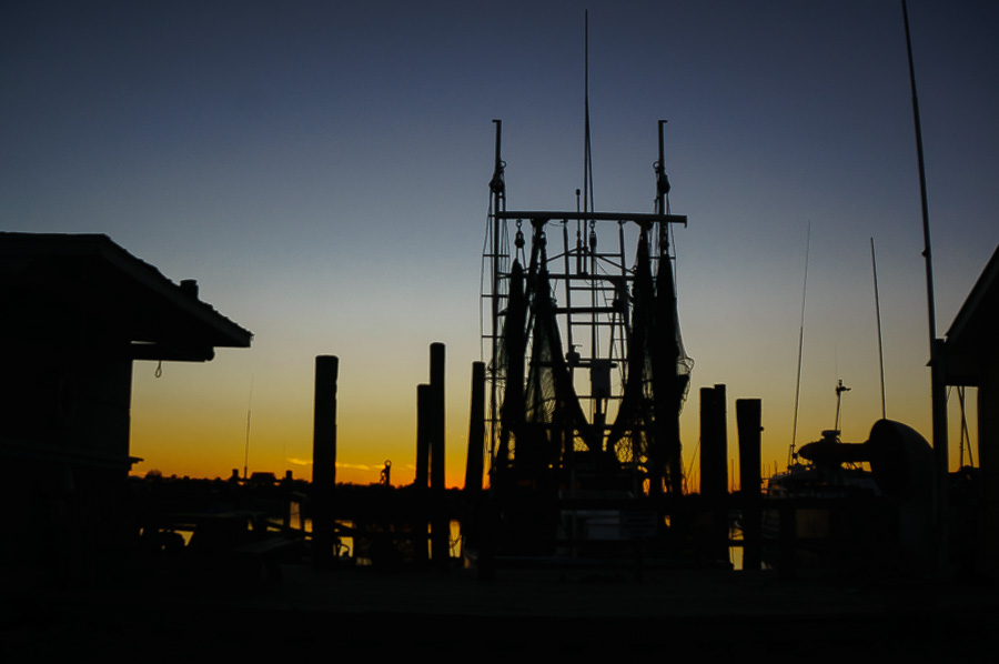 Dock Silhouettes at sunset