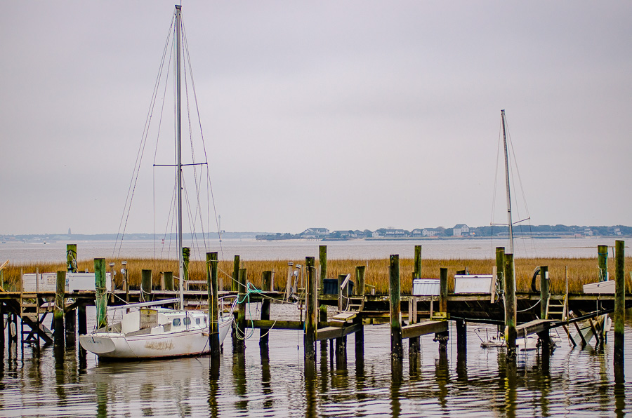 Sailboats and broken docks