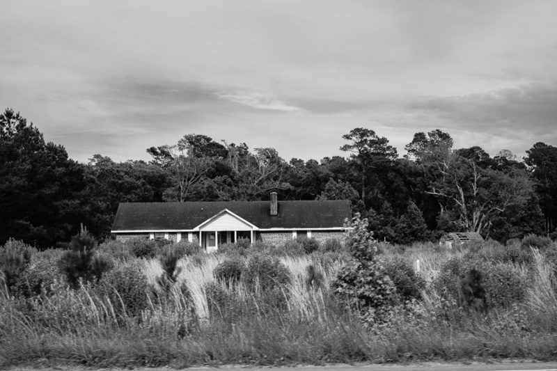 Abandoned house in Black and White