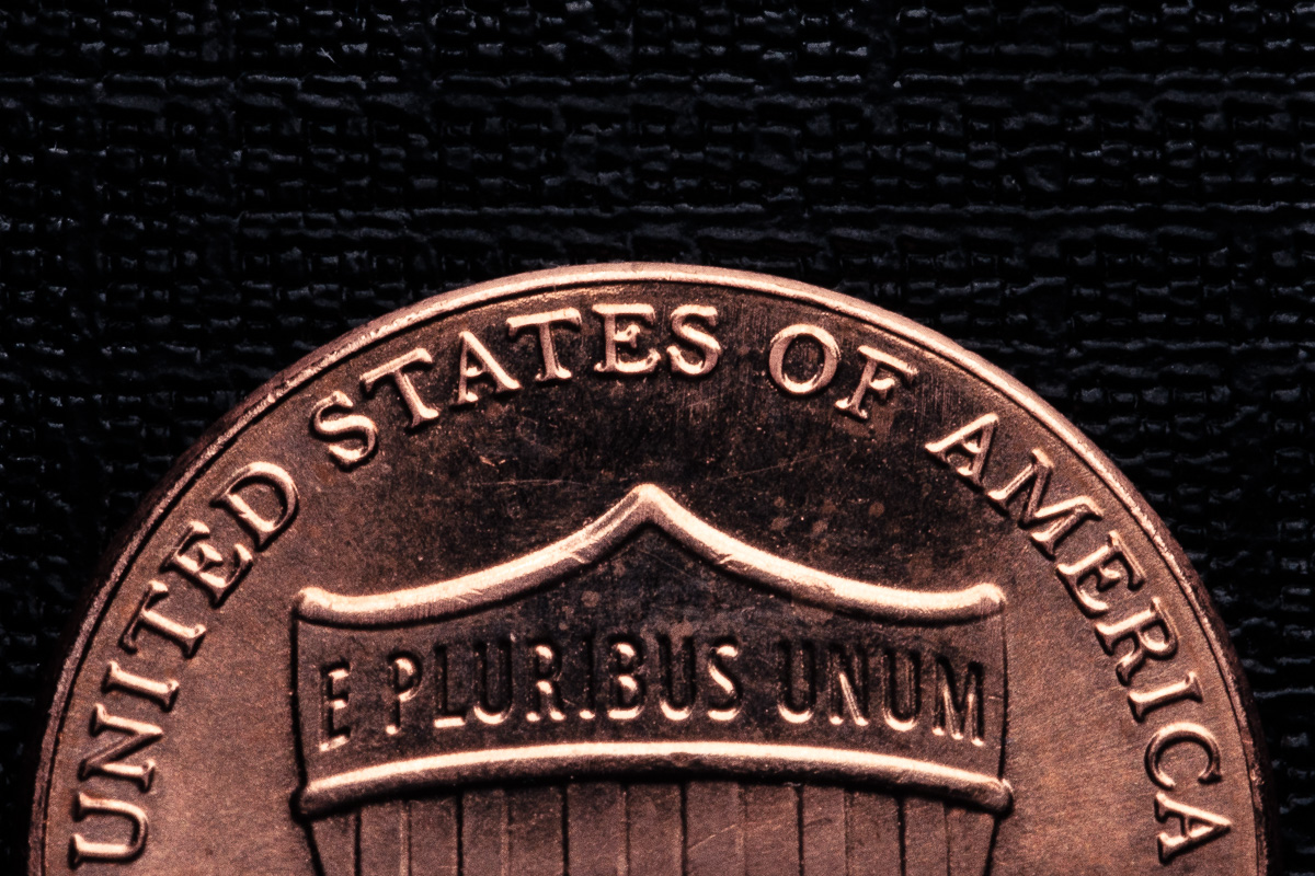 Top half of a penny
