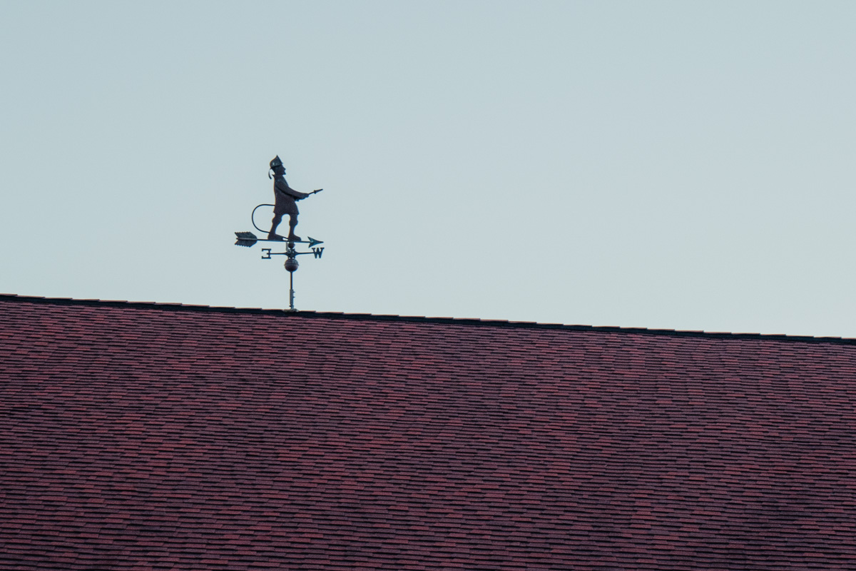 Firefighter weather vane